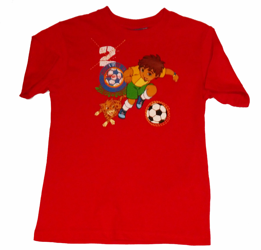 Diego Football T-shirt (Red)