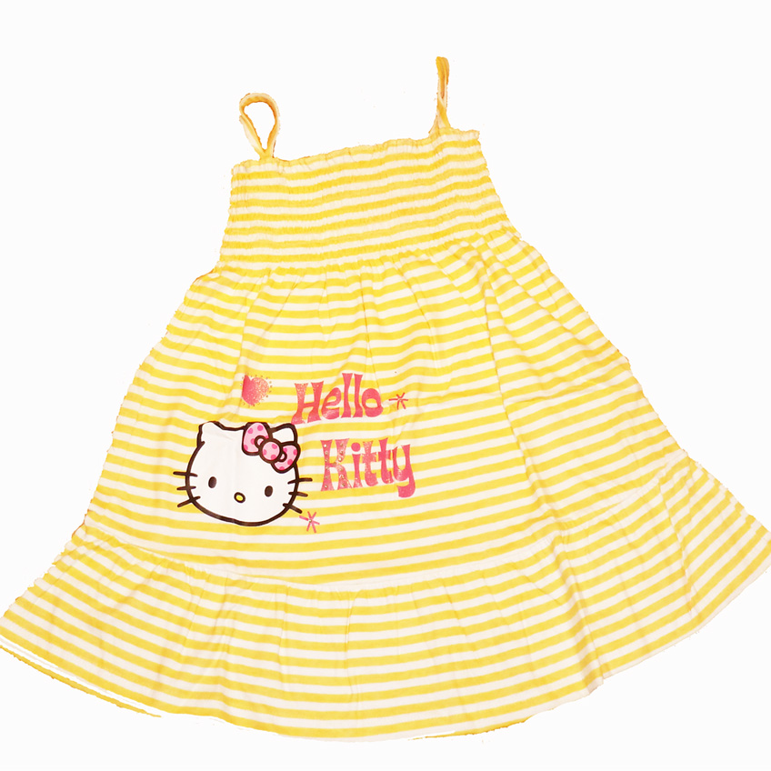 Hello Kitty Sun Dress - Yellow/White