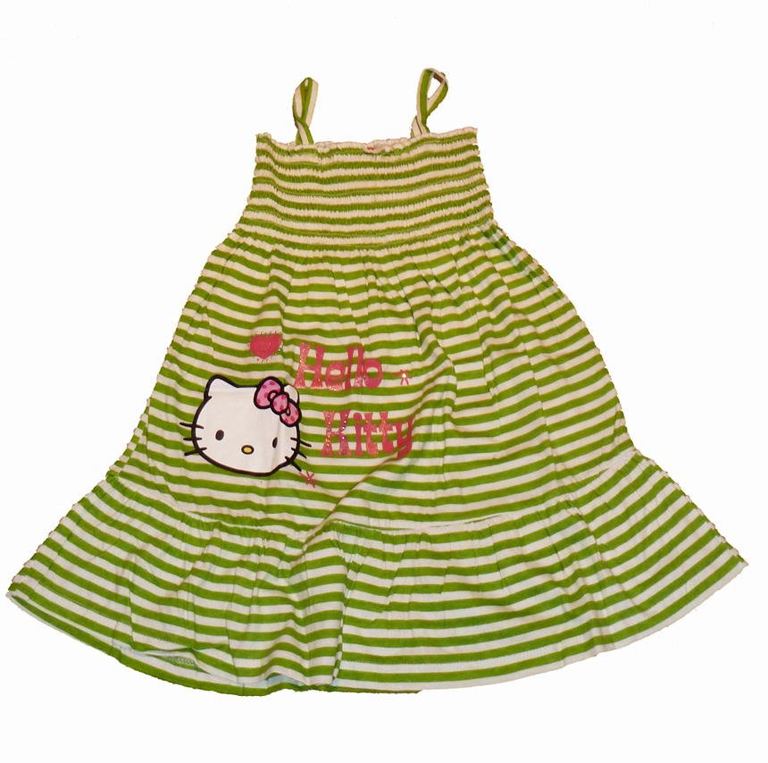 Hello Kitty SunDress - Green/White